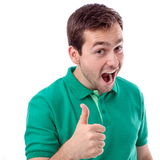 Thumbs up guys Royalty Free Stock Image