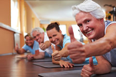 Thumbs up in gym Royalty Free Stock Images