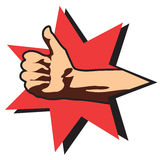 Thumbs up.Hand Royalty Free Stock Photos