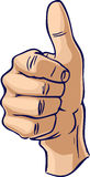 Thumbs up hand gesture Stock Image