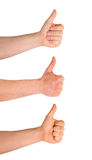Thumbs up hand gesture isolated Stock Photo