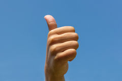 Thumbs up , hand showing thumb up Royalty Free Stock Photos