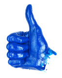 Thumbs up hand sign Royalty Free Stock Image