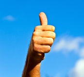 Thumbs up hand sign Royalty Free Stock Images