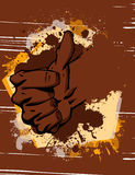 Thumbs up hand sign Stock Image