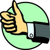 Thumbs up hand vector illustration Royalty Free Stock Images