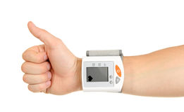 Thumbs Up for Healthy Blood Pressure royalty free stock photography