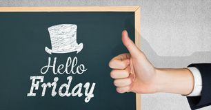 Thumbs up hello friday Royalty Free Stock Images