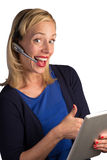 Thumbs Up from Help Desk Royalty Free Stock Image