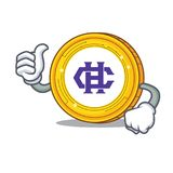 Thumbs up Hshare coin character cartoon. Vector illustration Royalty Free Stock Photos