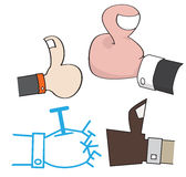 Cartoon Thumbs Up I Like Hand Sign Illustration Stock Image