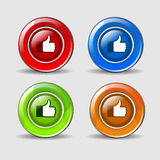 Thumbs UP Icon Button Stock Images