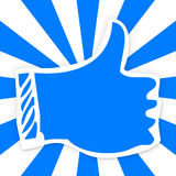 Thumbs up icon for social media like Royalty Free Stock Photo