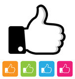 Thumbs up Icon Royalty Free Stock Photos