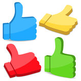 Thumbs Up Icons Stock Photos