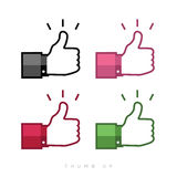 Thumbs up icons set Royalty Free Stock Images
