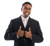 Thumbs up Indian businessman Royalty Free Stock Photos