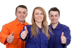 Thumbs up industrial group Royalty Free Stock Photo