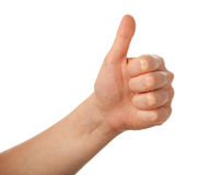 Thumbs up isolated Royalty Free Stock Photography