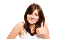 Thumbs up isolated Royalty Free Stock Photos
