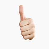 Thumbs up! Isolated with clipping path Royalty Free Stock Photo