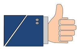 Thumbs up isolated illustration stock photo