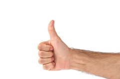Thumbs Up (isolated) Stock Image