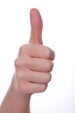 Thumbs up. Isolated on white. Royalty Free Stock Photo