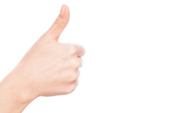 `thumbs up` isolated on white background. Royalty Free Stock Photos