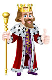 Thumbs Up King Cartoon Stock Photo