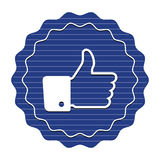 Thumbs up, like badge Stock Image