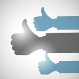Thumbs Up Like Hands. Abstract Background Royalty Free Stock Photography