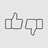 Thumbs up like social network icon with new appreciation number symbol. Vector social media illustration. Stock Photos