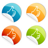 Thumbs up logo Royalty Free Stock Images