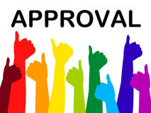 Thumbs Up Means Approved Recommend And Passed Stock Photos