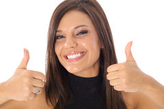 Thumbs up model Royalty Free Stock Photo