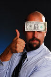 Thumbs up for money royalty free stock image