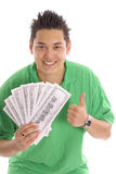 Thumbs up money guy Stock Images
