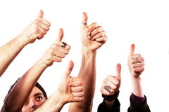 Thumbs up - OK concept Stock Images