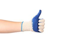 Thumbs up ok sign Royalty Free Stock Photo