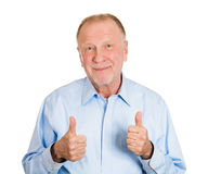 Thumbs up old man Stock Images