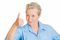 Thumbs up older woman Stock Photos