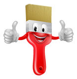 Thumbs up paintbrush. Drawing of a smiling red cartoon paint brush character mascot giving a thumbs up Royalty Free Stock Photography