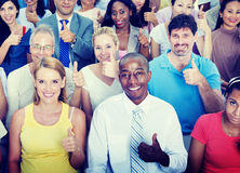 Thumbs Up People Diversity Multiethnic Group Concept.  Royalty Free Stock Images