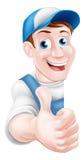 Thumbs Up Plumber or Mechanic Stock Photos