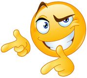 Thumbs up pointing fingers emoticon stock illustration