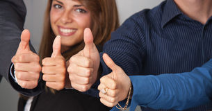 Thumbs up portrait Royalty Free Stock Photo