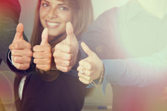 Thumbs up portrait Stock Photo