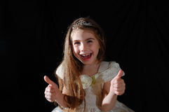 Thumbs up princess Royalty Free Stock Photo