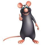 thumbs up  Rat cartoon character Stock Photos